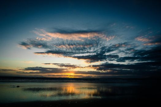 Wales Beach Sunset Waterscapes 1 by Samuel-Benjamin