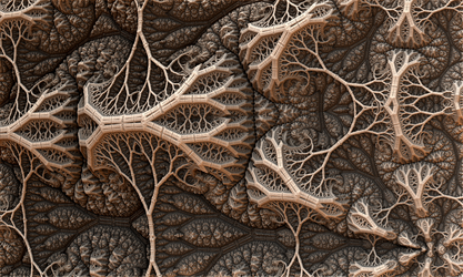 A Precariaous Arrangement Of Tree Roots by moonhigh
