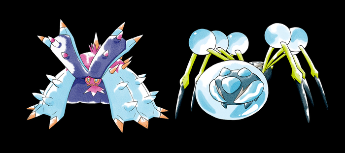 Toxapex/Araquanid Old Sugimori Style by CadmiumRED