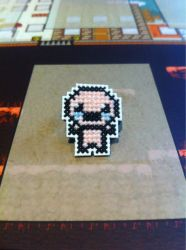 Isaac cross stitch pin by fangy89