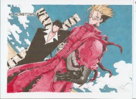 Trigun manga colored by Marimokun
