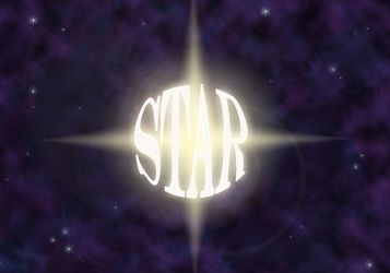Star typography by Meagharan