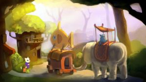 Cat Village by taho