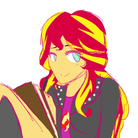 Sunset Shimmer WIP by PaperKoalas