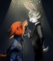 Nick and Savage by ElsaWhite2525