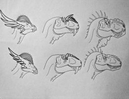 Dinosaurs of the Present: Sexual Dimorphism by Saberrex