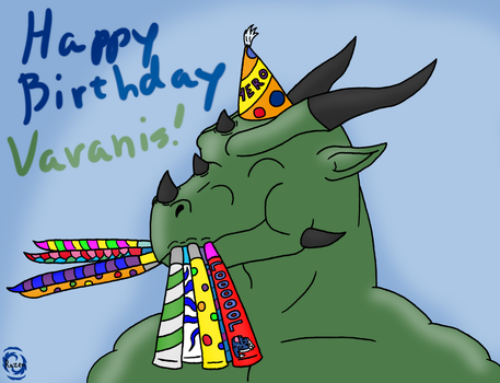 Varanis Blackclaw's Birthday Blowout by RazenHashikado