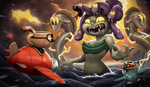 Cuphead and Mugman VS. Cala Maria! by Henkkab