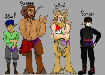 DnD 5e character lineup by LinLupin