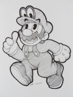 Mario and THIS hat (Staedtler) by CutyAries