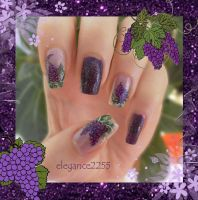 Grapes Nails by elegance2255