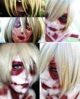 Annie Titan Cosplay attak on titan female titan by ButtersAnKau