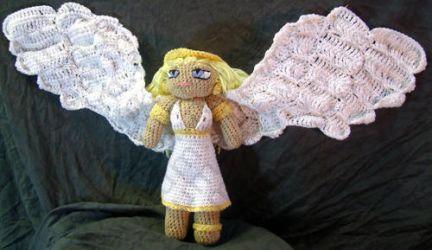 Female Angel Amigurumi Doll by voxmortuum
