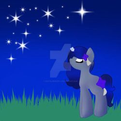 Art Trade on Equestria Amino - Galaxy Night Horse by PastelBreeze14