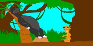 Baloo and Simba: Let's Get to a Tree by SammyD-Productions