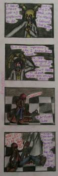 FNAF comic - Returning to Freddy's in 2000 pt 2 by PaigeLTS05