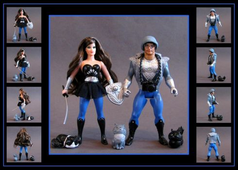 Cheryl and Cory (vintage POP style) custom figures by nightwing1975