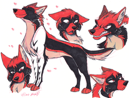 Rin wolves by Stray-Sketches