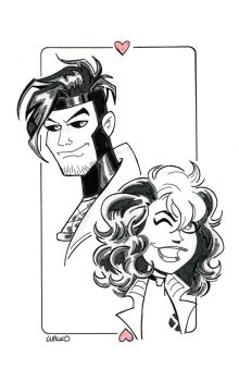 Gambit And Rogue SDCC 2016 by BillWalko