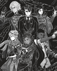 Inktober: Six of Crows by allarica