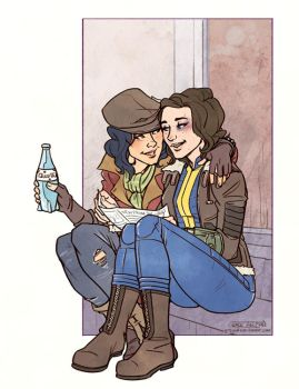 Piper and Gladys by greyallison