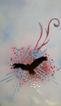 Soaring Above - Spray Paint by Darklinkkyle