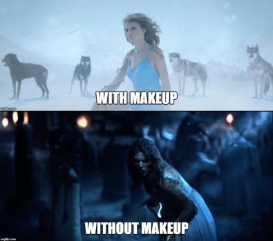 Makeup vs without makeup by aiko-sweetgirl