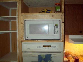 My new microwave after framing it in by Pandafox1213