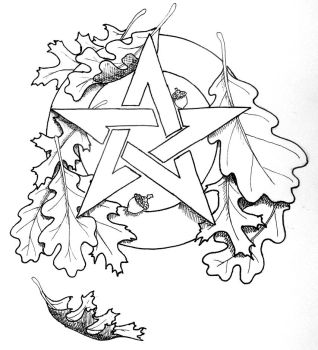 Autumn Pentacle by Iolair01