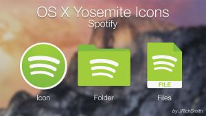 OS X Yosemite - Spotify Icons by JRichSmith