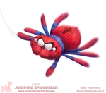 Daily Paint 2031# Jumping Spiderman by Cryptid-Creations