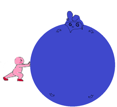 Melody blueberry inflation rolled by kirby by sonicfan40