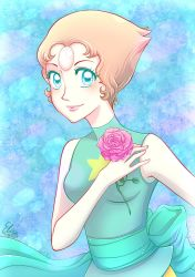 Pearl and her Rose by hyacinthess