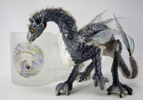 OOAK Water Dragon Sculpted Art Doll by M-J-Albert