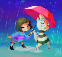 [undertale] Under the Raindrops by bluumi