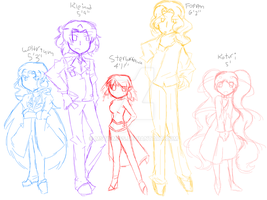 The Caged Ensemble Cast [WIP] by MSTieMiss