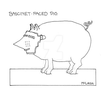 Bascinet-Faced Pig by WillMcLean