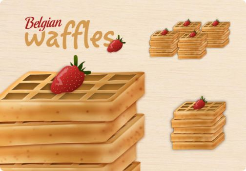 Belgian Waffles Icon by lharboe