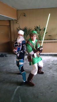 Jedi Link and Sheik Team Up by GamedracoArt