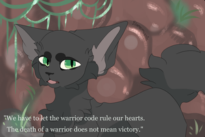 Hollyleaf fanart - warriors by Flamemuzzle