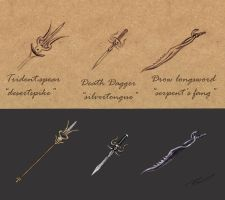 Weaponry concept by Silinde-Ar-Feiniel