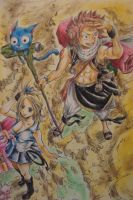 Fairy Tail Volume 1 Cover (Colored) by Highway3
