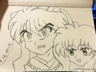 Inuyasha and Kagome-pissed off Inu! by dokikittyproductions