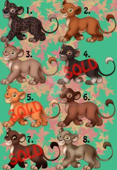 Female Lion Adopts (OPEN) by MoscoMoon