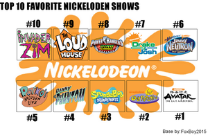 Top 10 Favorite Nickelodeon Shows Meme by FoxBoy2015