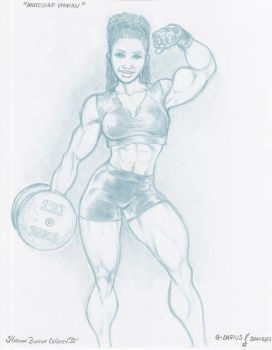 muscular woman 1 by williamcolbert