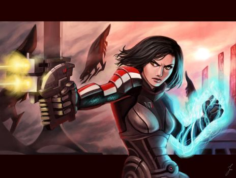 Battle for Thessia by iara-art