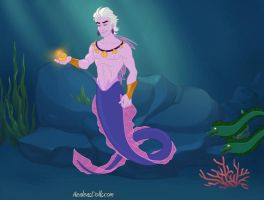 Male!Ursula Merman by LeFantomeDancer