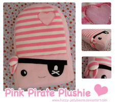 Pink Pirate Plushie by fuzzy-jellybeans