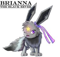 Brianna the black eevee by cloudstrife01